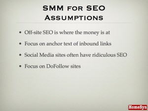 SMM for SEO Assumptions