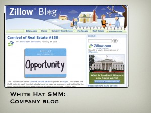 White Hat SMM:  Corporate Blog