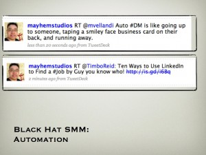 Black Hat SMM:  Automation