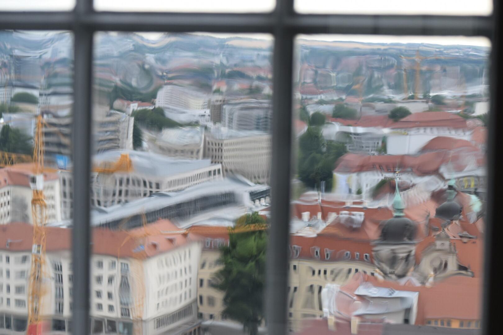 Dresden though glass