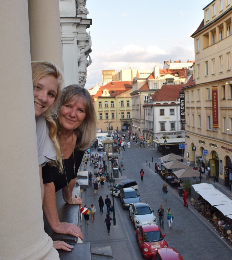Alex and Wendy on our Prague bacony