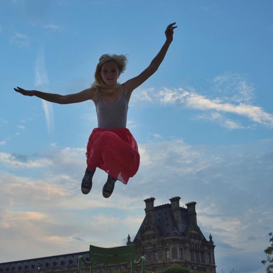 Alex's evening jump over the Louvre