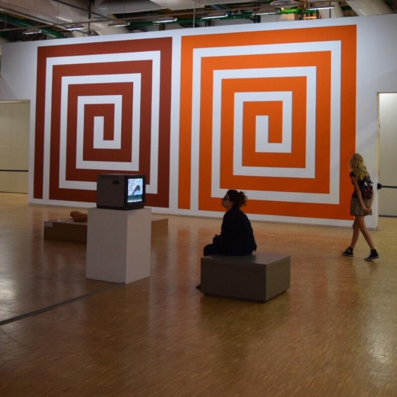 Contemporary art installation at the Pompidou Center