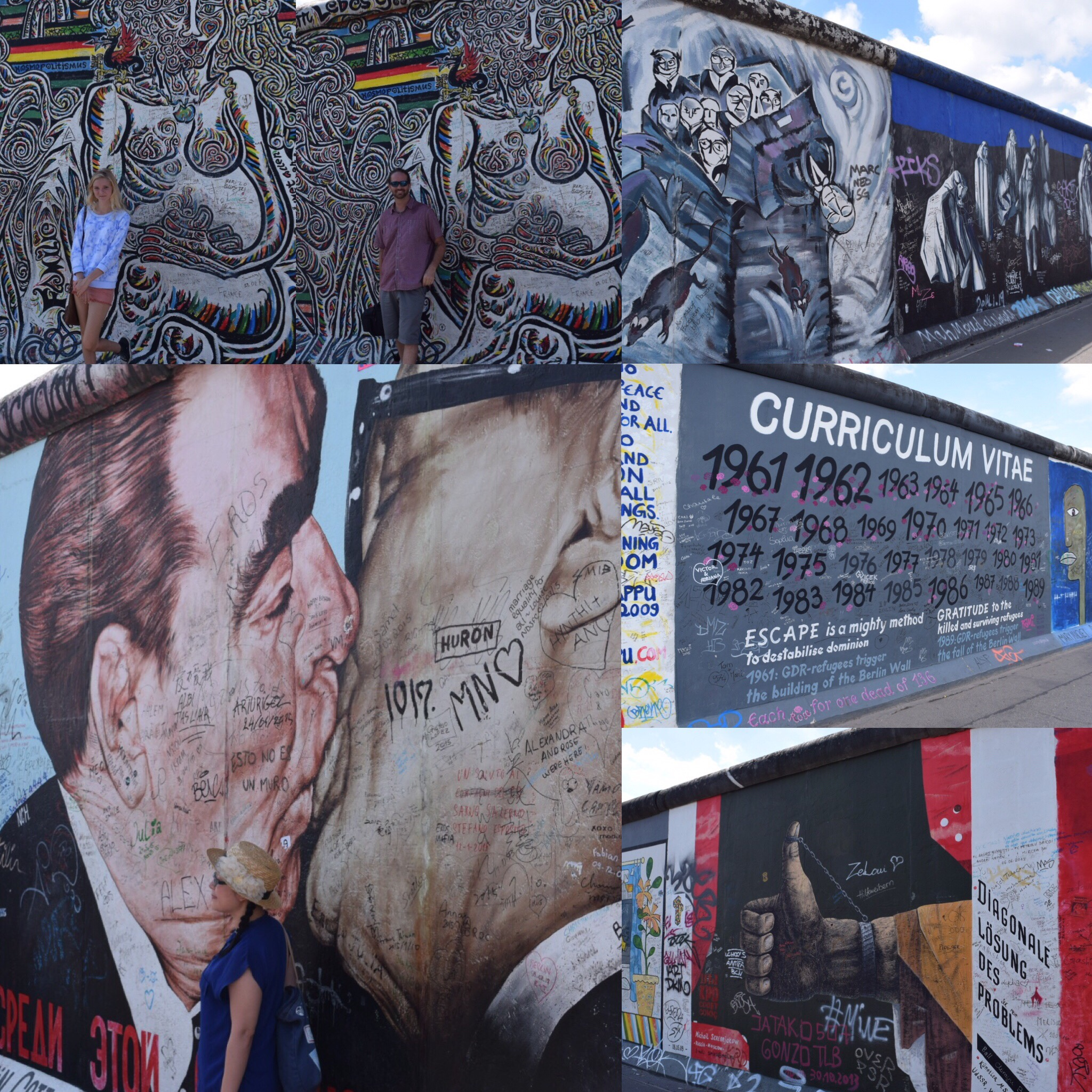 Murals along the East Side Gallery